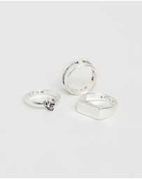 Icon Brand - Linear Ring 3-Pack