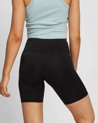 Factorie High Waisted Elevated Bike Shorts - High-Waisted (Black)