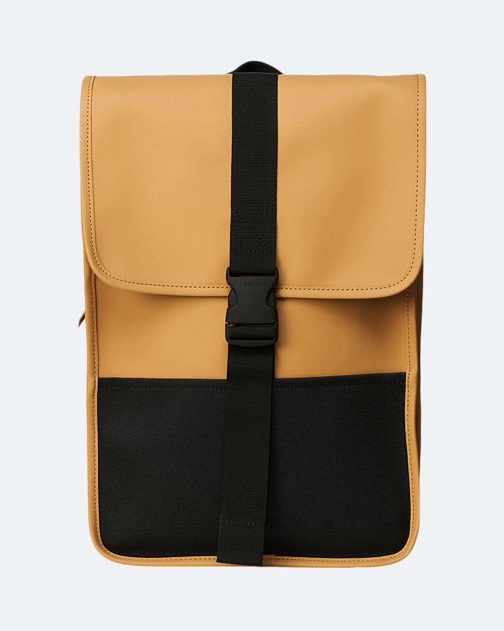 RAINS Buckle Backpack Mini Backpacks Khaki