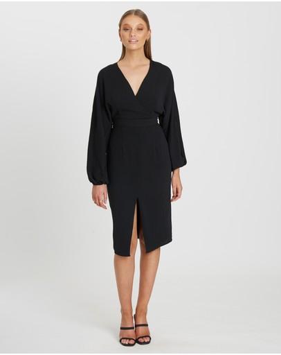 Tussah Elena Mid Dress Black