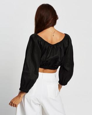 AERE Blouson Sleeve Top - Cropped tops (Black)