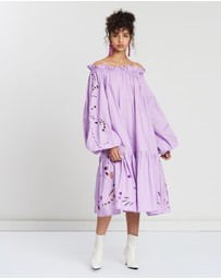 Romance Was Born - Dreamer Anglaise Gather Smock Dress