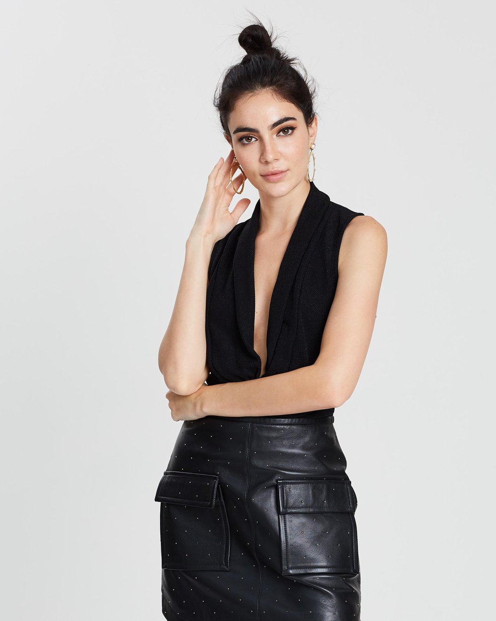c9988259a55 Star Sleeveless Drapey Bodysuit by ONLY Online | THE ICONIC | Australia