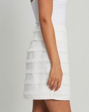 BWLDR Orbit Tassel Skirt - Skirts (White)