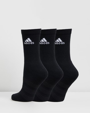 adidas Performance - 3 Pack Cushioned Crew Socks Unisex (Black & White) 3-Pack