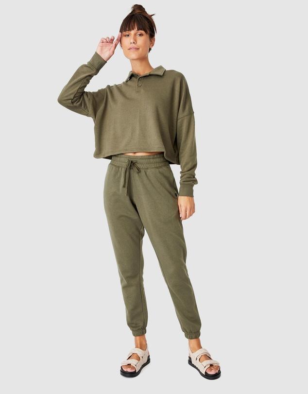 Women Polo Fleece Top