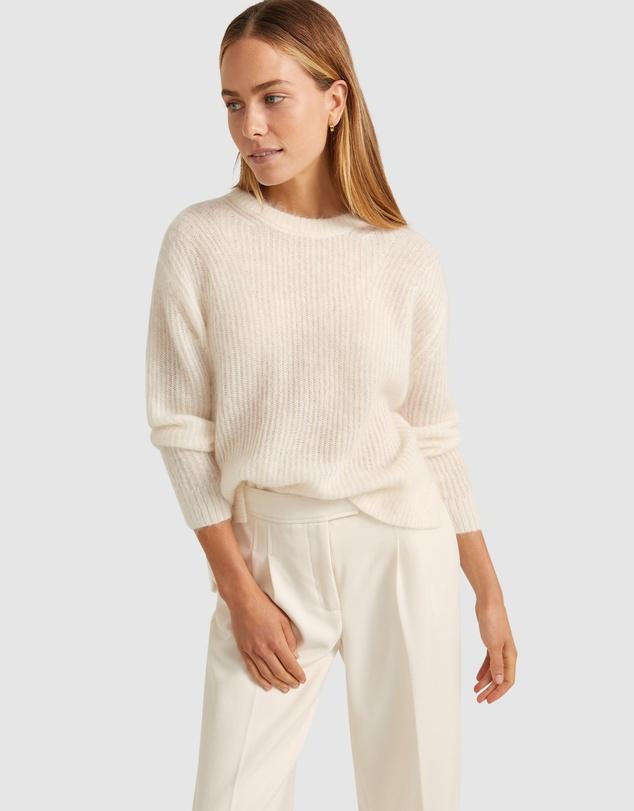 Women Rosella Mohair Crew Knit