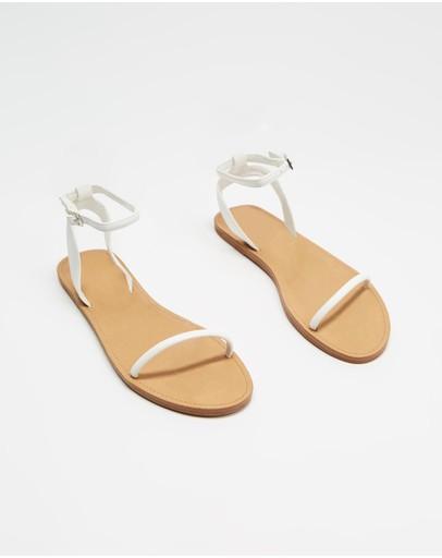 Dazie Skylar Sandals White Smooth