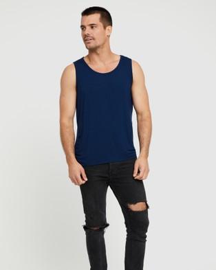 Bamboo Body Bamboo Singlet - T-Shirts & Singlets (Navy)