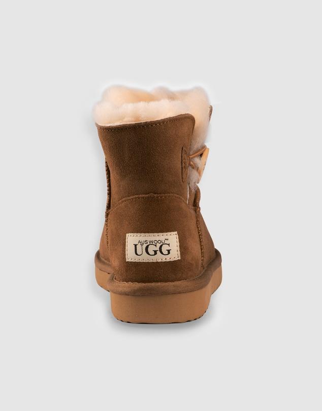 Women Cabarita Short Sheepskin Wool Button Boots