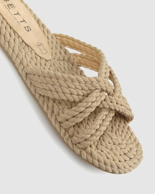 Betts Ernie Rope Slides - Casual Shoes (Nude)