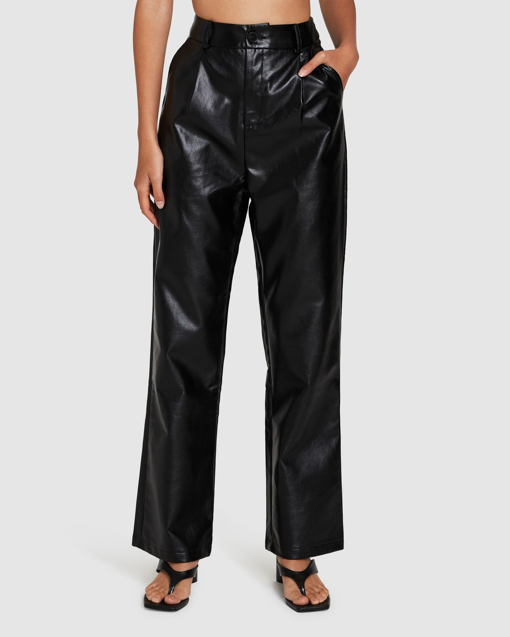 Alice In The Eve Kylie Leather Look Pants BLACK