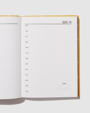 Typo 2021 A5 Oxford Daily Diary - All Stationery (Dottie Floral Mustard)