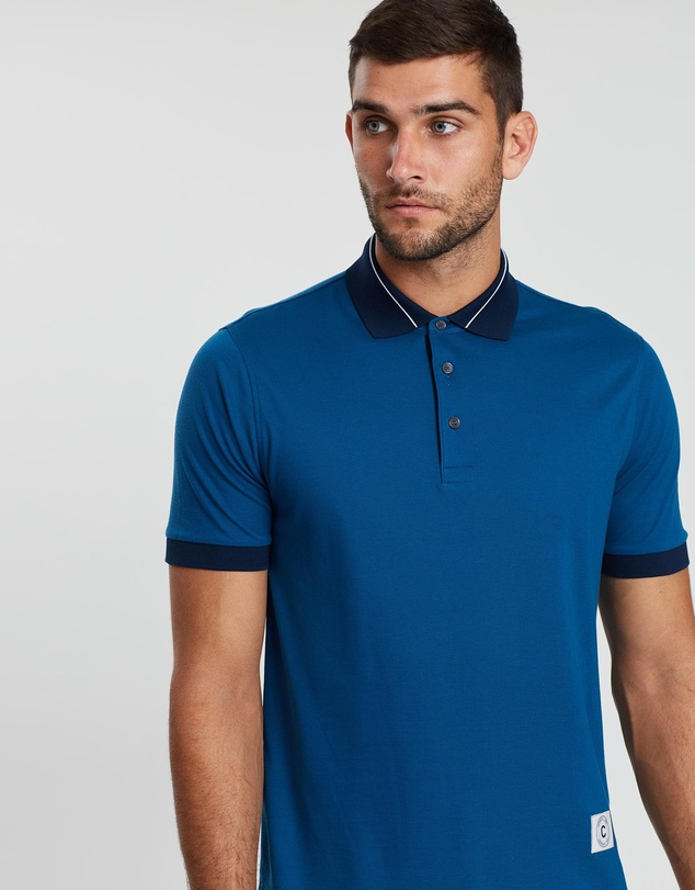 CERRUTI 1881 - Two-Toned Contrast Polo