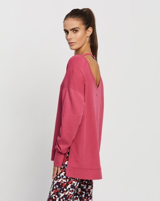 Sweaty Betty After Class Sweatshirt Sweats (Tayberry Pink)