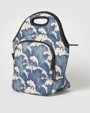Urban Originals Lunch Bag Waves Lunchboxes Blue