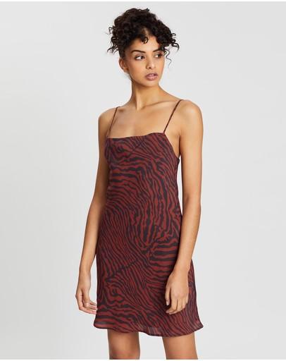 Third Form Jungle Beats Bias Mini Dress Zebra