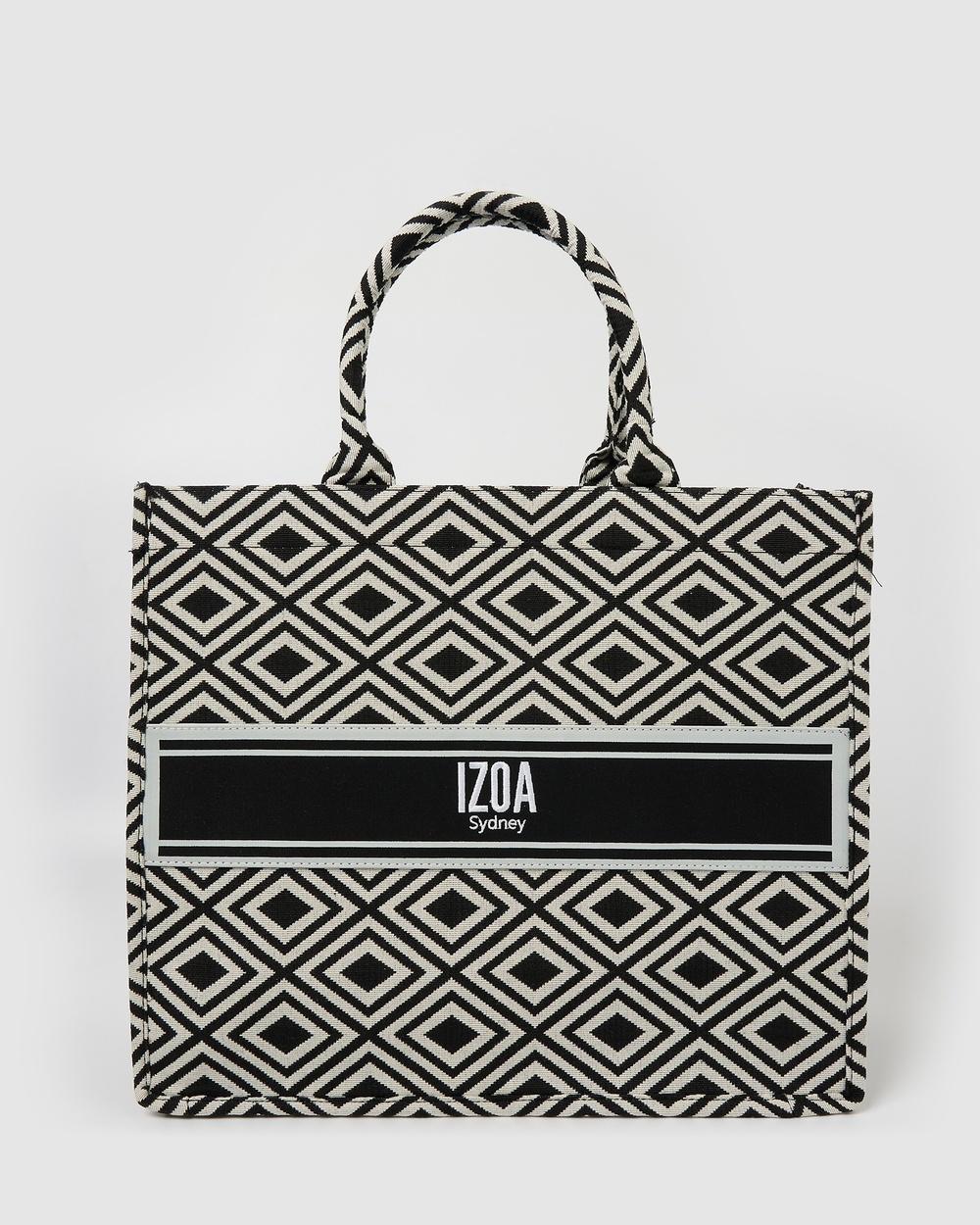 Izoa Adriana Tote Bag Beach Bags Black