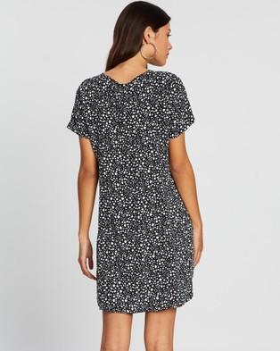 All About Eve Mono Mini Dress - Printed Dresses (PRINT)