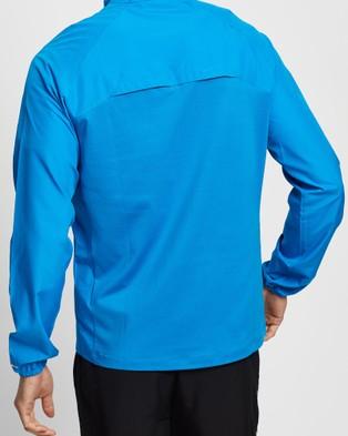 ASICS Icon Jacket   Men's - Coats & Jackets (Directoire Blue/Performance Black)