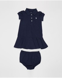 Polo Ralph Lauren - SS Polo Knit Stretch Mesh Dress - Babies