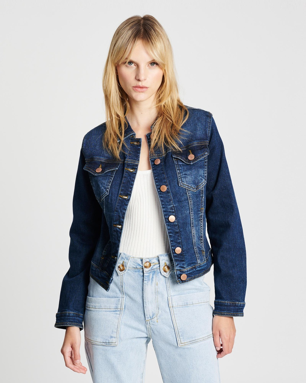DRICOPER DENIM Dita Classic Denim Jacket jacket Classic Wash Australia