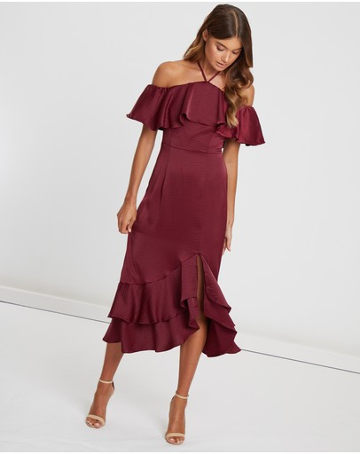 One Shoulder Red Chiffon Short Cocktail Party Dresses 2019 New Simple Party Gowns Asymmetrical Skirt Above Knee Cocktail Dresses Evident Effect Weddings & Events