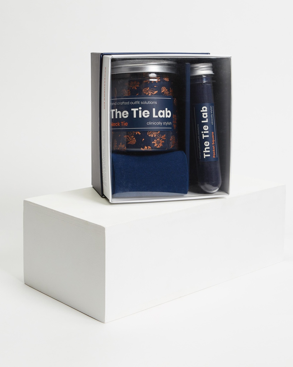Tie Lab 3 Piece Gift Box Set Ties Orange & Blue 3-Piece Ties Australia