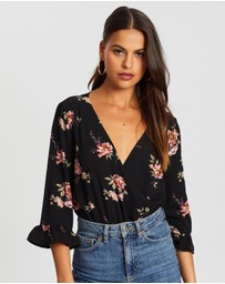 Boohoo - Woven Floral Bodysuit