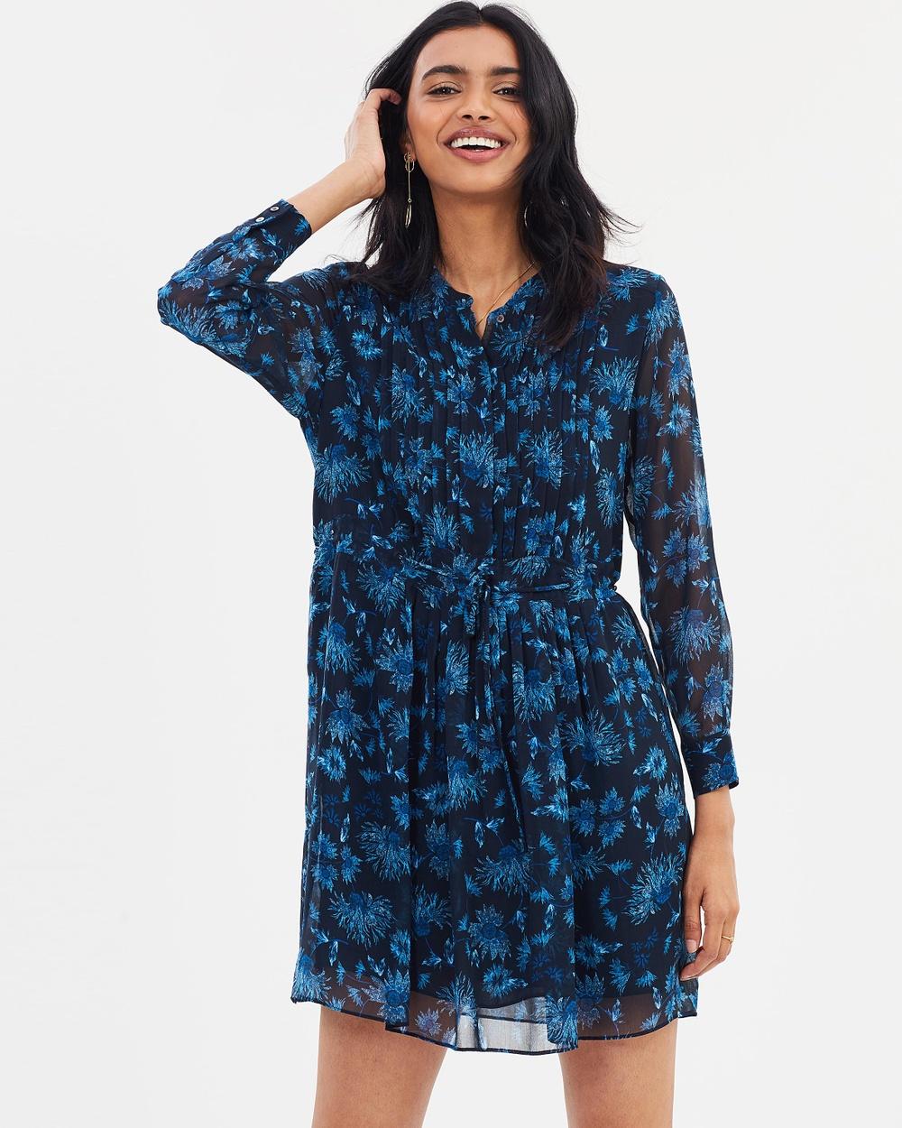 Whistles Pitti Print Shirt Dress Printed Dresses Blue & Multi Pitti Print Shirt Dress