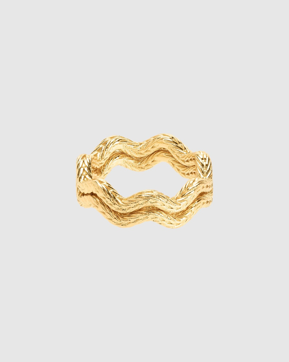 Oroton Zabel Thin Ring Set Jewellery Gold