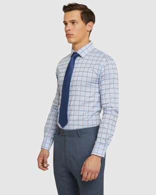 Oxford Beckton Checked Luxury Shirt - Shirts & Polos (Purple)