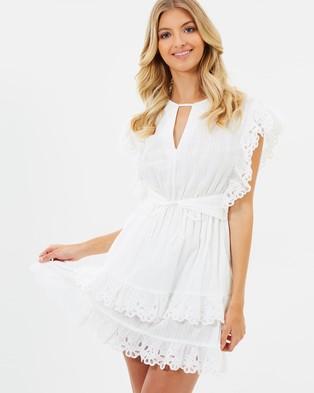 Atmos & Here – Jolie Ruffle Dress White