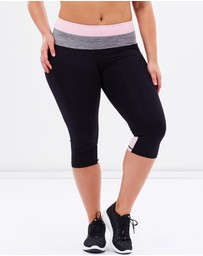 Curvy Chic Sports - Two-Tone Body Sculpt Tights