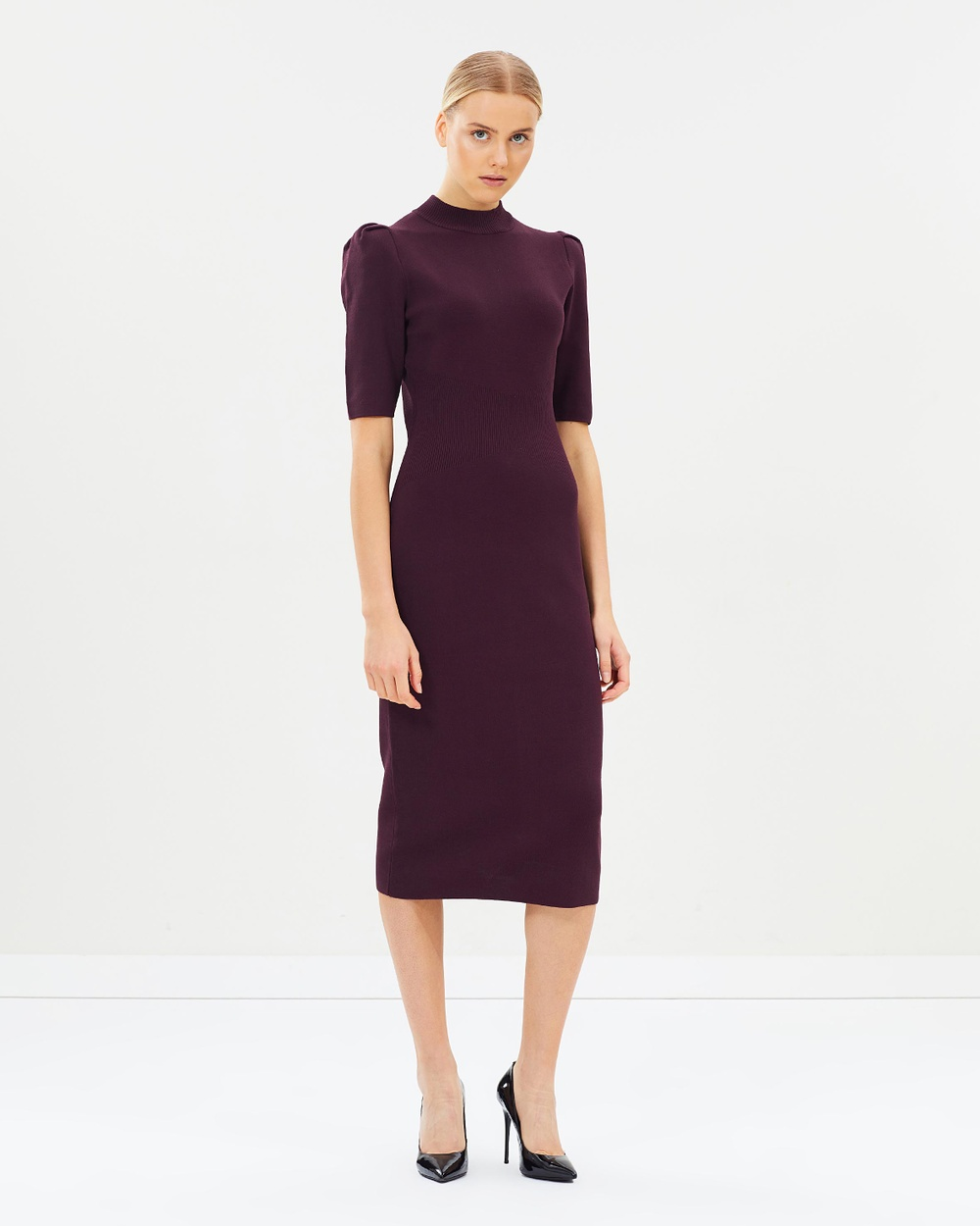 CAMILLA AND MARC Dyana Milano Midi Dress Bodycon Dresses Black Orchid Dyana Milano Midi Dress