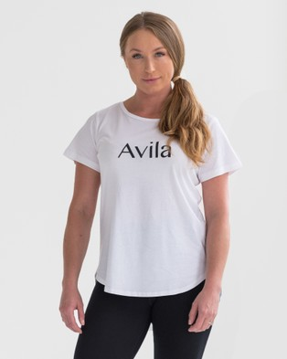 Avila - Logo T Shirt Short Sleeve T-Shirts (White) T-Shirt