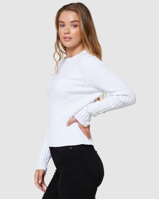 Elwood Sole Knit - Jumpers & Cardigans (White)