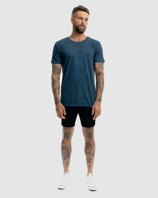 Xander Monaco Embroidery Tee - T-Shirts & Singlets (BLUE)