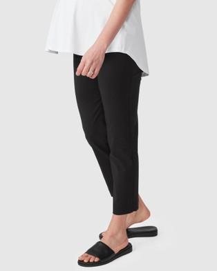 Pea in a Pod Maternity Cara Velcro Waist Capri - Pants (Black)
