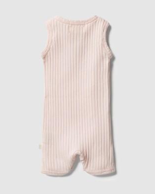 Wilson & Frenchy Organic Rib Growsuit   Babies - All onesies (Angel)