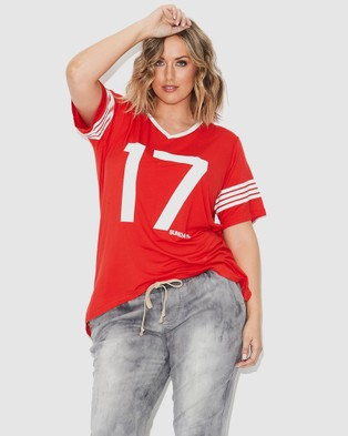 17 Sundays Retro Sports Tee - Short Sleeve T-Shirts (Red)