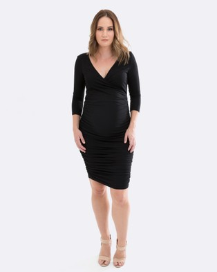 Maive & Bo – Bettina Maternity Dress – Bodycon Dresses Black
