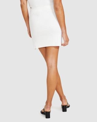 Alice In The Eve Ali Rib Knit Mini Skirt Skirts WHITE
