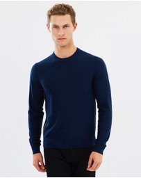 PS by Paul Smith - Merino Crew-Neck Sweater with Contrast