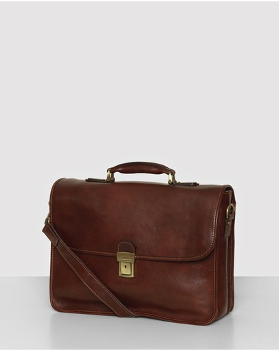 Republic of Florence - The Milan Leather Briefcase