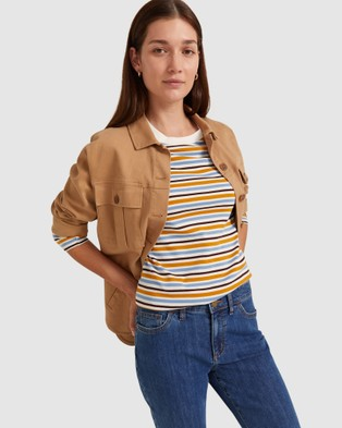 Sportscraft - Heidi Stripe Long Sleeve Tee - T-Shirts & Singlets (Blue Multi) Heidi Stripe Long Sleeve Tee