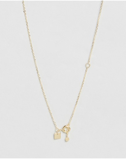By Charlotte Shine Brightly April Necklace Gold