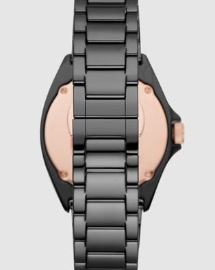 Emporio Armani Black Men's Analogue Watch - Watches (Black)