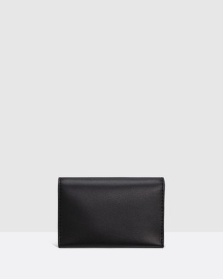 Oroton Alexis Multi Gusset Cardholder - Wallets (Black)