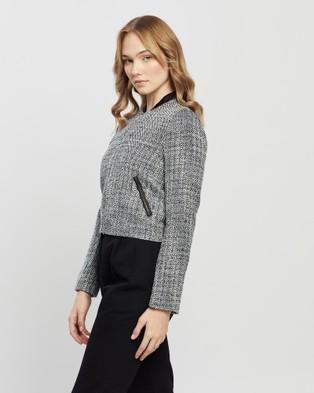 Marcs - Tillie Tweed Bomber Jacket Coats & Jackets (Black Multi)